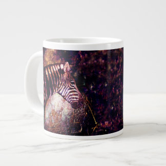 Celestial Zebra of the Equidae Eclipse Large Coffee Mug