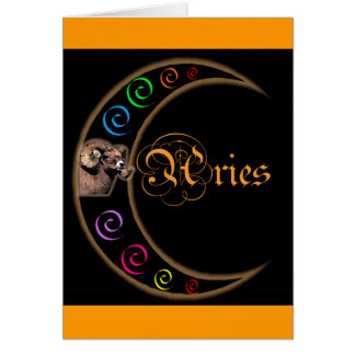 Celestrial Moon Aries Card