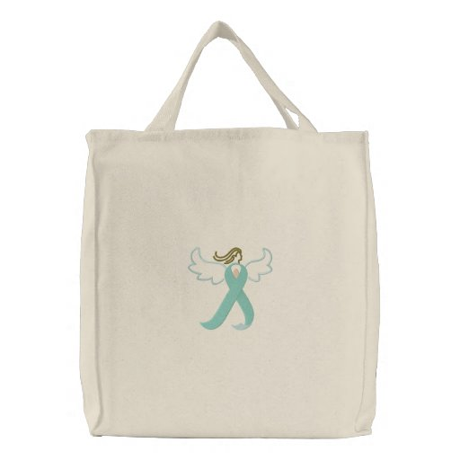 Celiac Awareness Angel Ribbon Tote Bag
