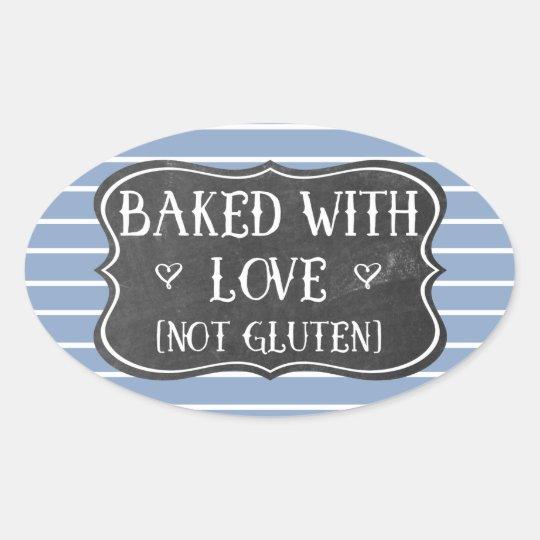 Celiac Baked With Love Not Gluten Chalkboard Oval