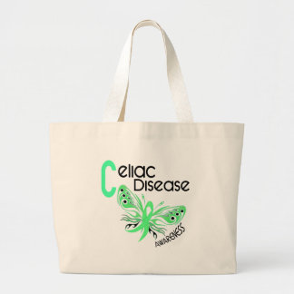 Celiac Disease BUTTERFLY 3.1 Large Tote Bag