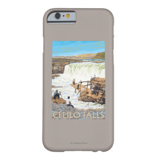 Celilo Falls Fishing Vintage Travel Poster Barely There iPhone 6 Case
