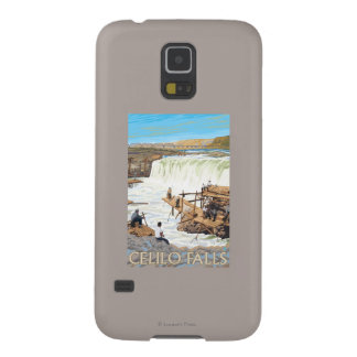Celilo Falls Fishing Vintage Travel Poster Galaxy S5 Cover