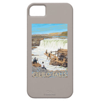Celilo Falls Fishing Vintage Travel Poster Case For The iPhone 5