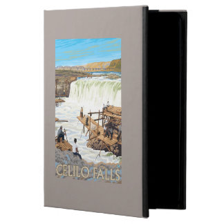 Celilo Falls Fishing Vintage Travel Poster iPad Air Case