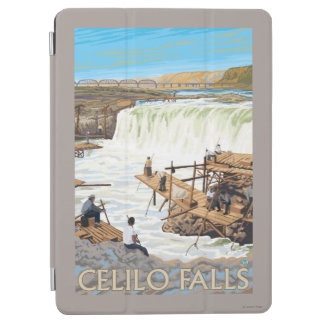 Celilo Falls Fishing Vintage Travel Poster iPad Air Cover