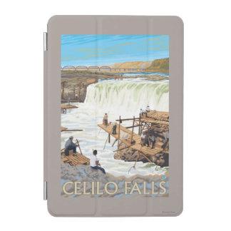 Celilo Falls Fishing Vintage Travel Poster iPad Mini Cover