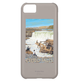 Celilo Falls Fishing Vintage Travel Poster iPhone 5C Case