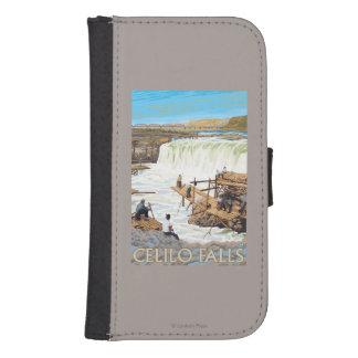 Celilo Falls Fishing Vintage Travel Poster Samsung S4 Wallet Case