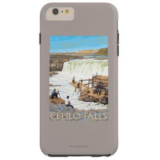 Celilo Falls Fishing Vintage Travel Poster Tough iPhone 6 Plus Case