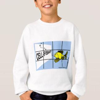 Cell-Fish Hilarious Cell Fish selfish fish cartoon Sweatshirt
