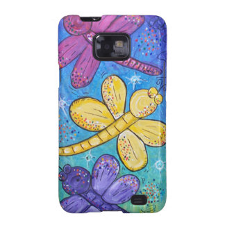 Cell Phone Case- Dragonflies at Play Samsung Galaxy SII Covers