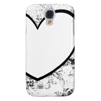 Cell Phone Case, Heart Photo Insert Black & White Galaxy S4 Case