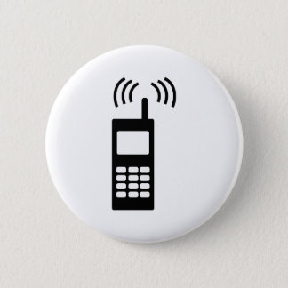 cell phone celly mobil handy 6 cm round badge
