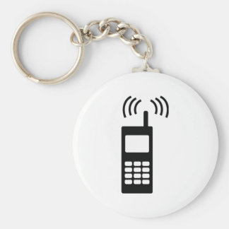 cell phone celly mobil handy basic round button key ring