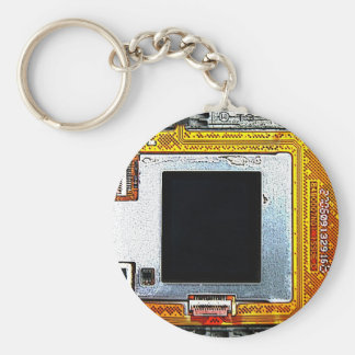 cell phone circuit board basic round button key ring