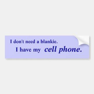 Cell Phone Dependent bumper sticker