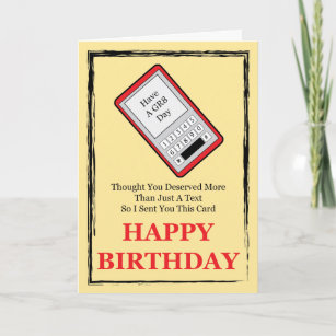 Cell Phone Happy Birthday Card