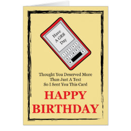 Cell phone birthday cards invitations zazzle cell phone happy birthday card bookmarktalkfo Image collections