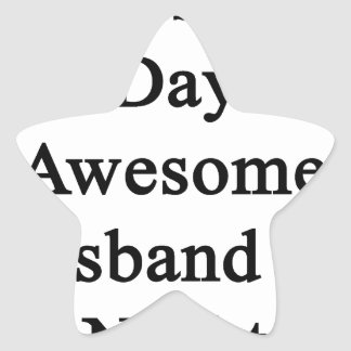Cellist By Day Awesome Husband By Night Star Sticker