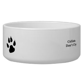 Cellists Don't Cry Dog Food Bowl