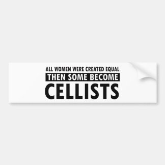 Cellists music designs bumper sticker