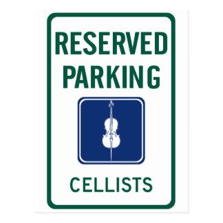 Cellists Parking Post Cards