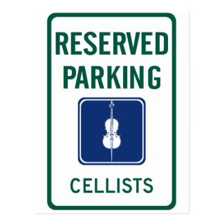 Cellists Parking Postcard
