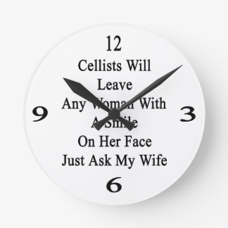 Cellists Will Leave Any Woman With A Smile On Her Wallclocks