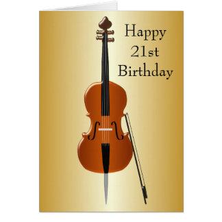 Cello 21st Birthday Cards