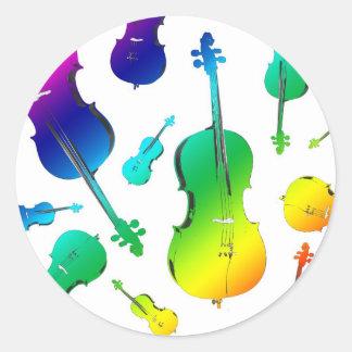 cello (3).jpg round sticker