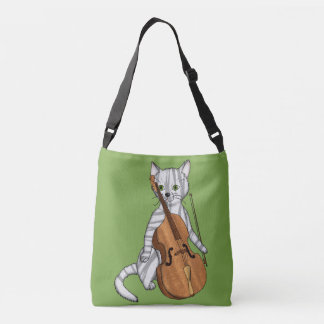 Cello and a Tiger Cat Crossbody Bag