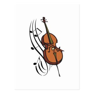 CELLO AND MUSIC POSTCARD
