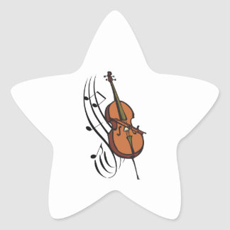 CELLO AND MUSIC STAR STICKERS
