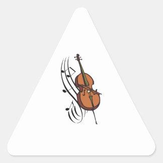 CELLO AND MUSIC TRIANGLE STICKER
