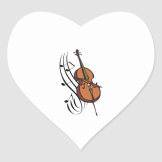 CELLO AND MUSIC HEART STICKERS