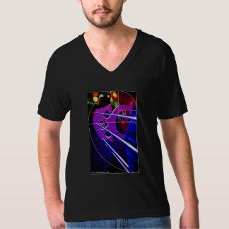 Cello and spiral American Apparel V-neck shirt