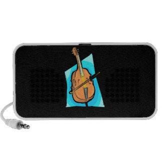 Cello Blue Back Stringed Instrument Design Mp3 Speakers