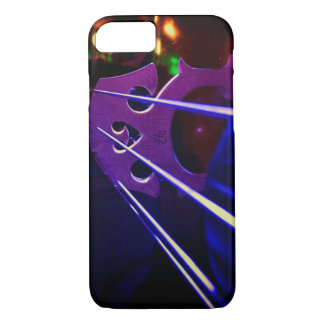 Cello bridge and strings close-up iPhone 8/7 case