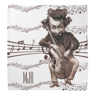 Cello Chops | Vintage Muscian | Monogrammed Bandana