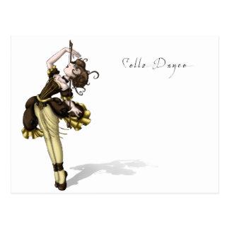 Cello Dance Postcard
