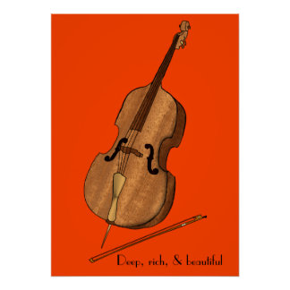 Cello Deep and Rich Poster