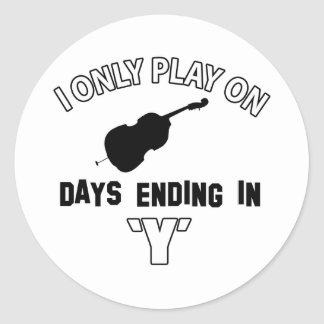 cello design classic round sticker