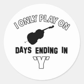 cello design round sticker