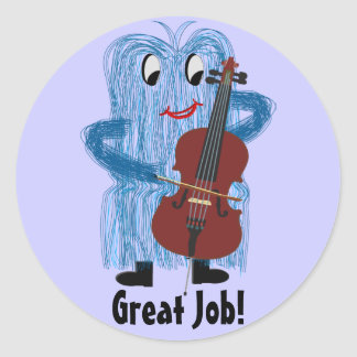 Cello - Get a Warm Fuzzy Feeling Classic Round Sticker