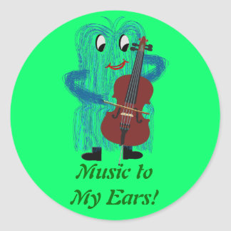 Cello - Get a Warm Fuzzy Feeling Stickers