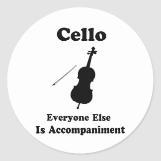 Cello Gift Round Stickers