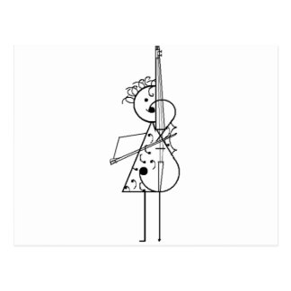 Cello Girl Postcard