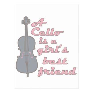 Cello Girl Postcard