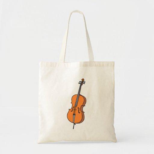 Cello Graphic , ViolinCello Music Design Tote Bags